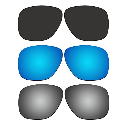 3 Pair ACOMPATIBLE Replacement Polarized Lenses for Oakley Crossrange XL Sunglasses OO9360 Pack - Crossrange Lenses Replacement Oakley
