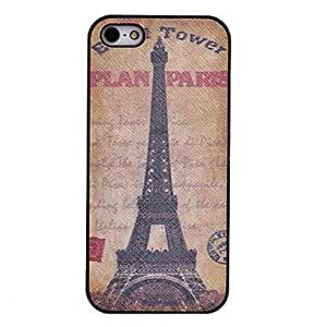 Eiffel Tower Pattern Back Case for iPhone 5/5S