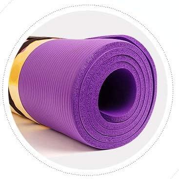 Yoga mat ノンスリップヨガマット無敵ノンスリップ性能エコフレンドリー特大200センチメートル* 160センチメートル* 10ミリメートル workout (色 : Purple)