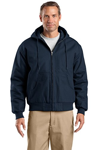 Cornerstone Hooded Work Jacket - Cornerstone Men's Duck Cloth Hooded Work Jacket M Navy