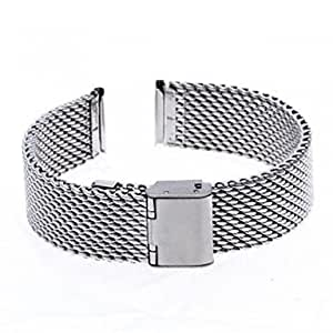 ZA Unisex Thick Mesh Steel Watch Band Strap 110MMx18MMx3MM(Delivery color random)