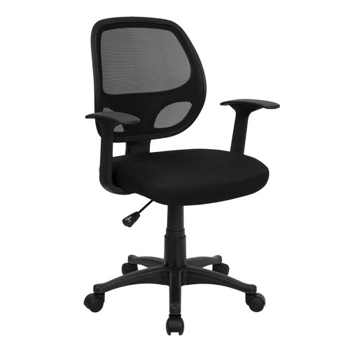 MidBack Black Mesh Swivel Chair