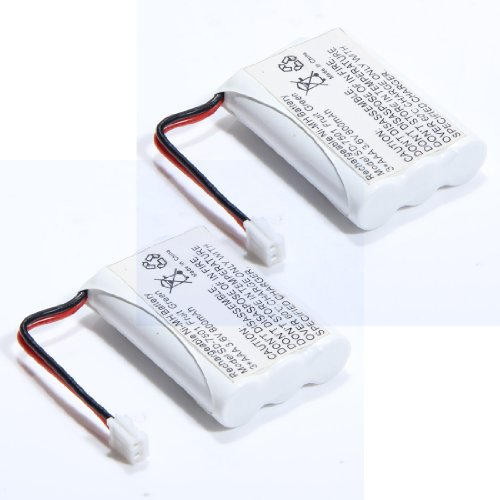 2 Pcs Cordless Phone Batteries for Motorola SD-7501 MD-42...