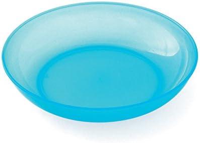 plastorex Assiette Micro-Ondable en Polypropyl/ène Orange Agrume Translucide 18,5 cm