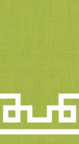 Entertaining with Caspari Rive Gauche Guest Towels, Moss Green, Pack of 15