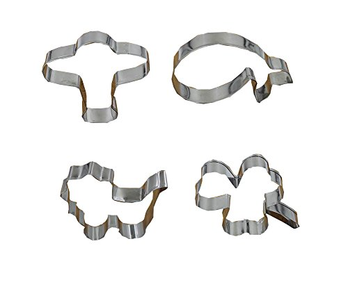 East Majik DIY Cookie Cutters 4pcs Stainless Baking