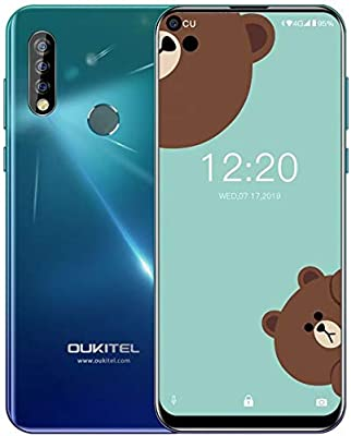 OUKITEL C17 Pro 4G Móviles(2019) Android 9.0 - Pantalla Completa de 6.35 Pulgadas de Agujero Ciego,4GB+64GB,Octa Core Dual SIM Smartphone, 13MP Cámara ...