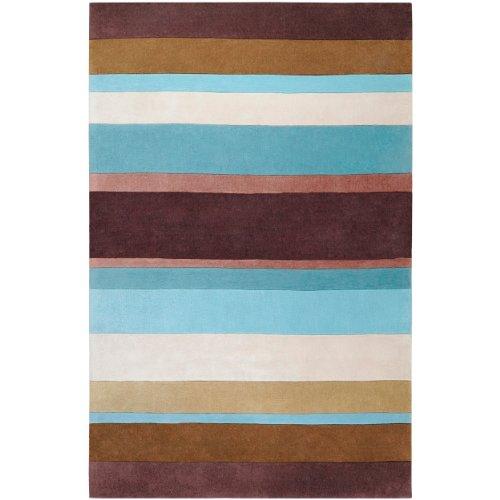 Surya COS-8904 Cosmopolitan Chocolate 3-Feet 6-Inch by 5-Feet 6-Inch Area Rug