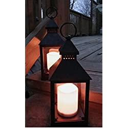 BANBERRY DESIGNS Decorative Lantern - Set of 4-5 H