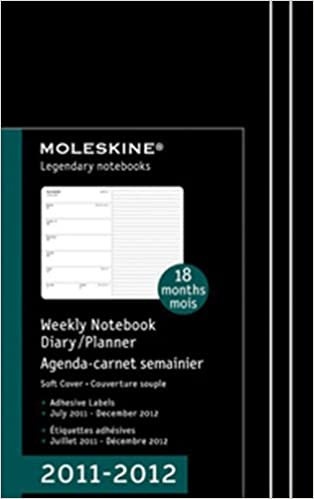2012 Moleskine Large Weekly Notebook 18 Months Soft ...