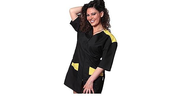 Bata, uniforme de esteticista, masaje, trabajo en centros de Belleza y Salud, amarillo, XL: Amazon.es: Hogar