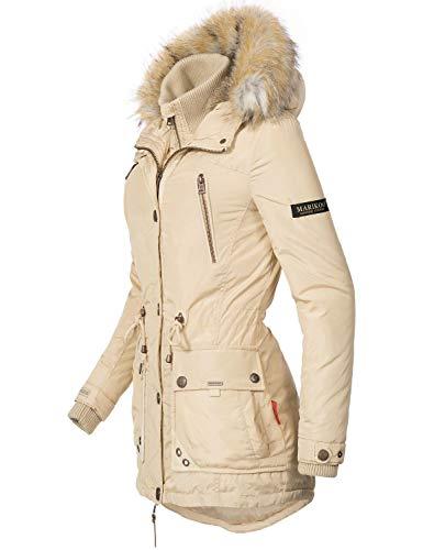 7 Dame d'hiver XXL Beige pour XS Marikoo Couleurs Parka Grinsekatze Veste XWpq47Y