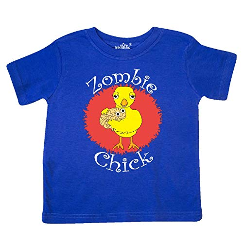 inktastic - Zombie Chick White Text Toddler T-Shirt 5/6 Royal Blue 302f8