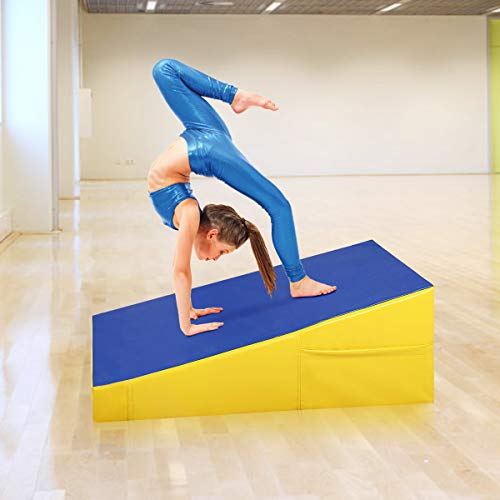 Amazon.com: goplus inclinación Wedge Rampa para gimnasia ...