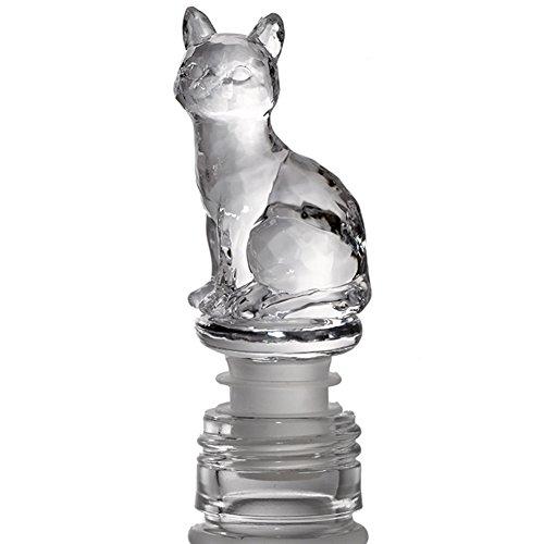 WINGOFFLY Super Cute Decorative Wine Champagne Beverage Bottle Stopper(Clear Cat)