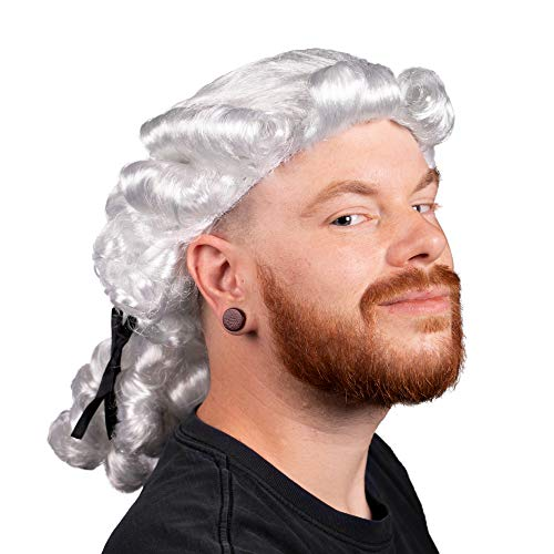 (Boo Inc. Colonial Powdered Wig | Adult Halloween Costume)