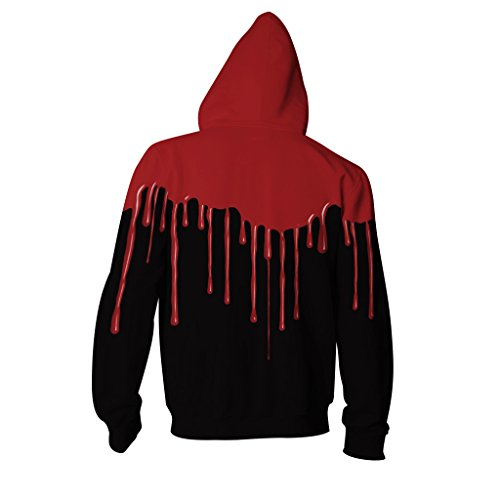 Motivo S Black Up Stampa nbsp;x Leezeshaw Traspirante Zip Blood L Con Tasche Pullover 3d Maglioni Grandi 3 Unisex Felpe Ox1wtB