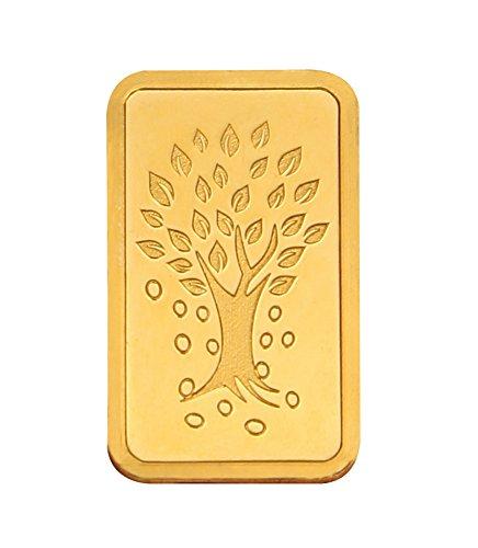 Kundan NABL Certified 5 gm, 24k(999.9) Yellow Gold Kalpataru Tree Precious Coin