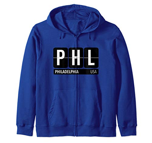 PHL Philadelphia PA USA Travel Souvenir White Zip Hoodie (Best Zip Codes In Philadelphia)