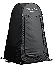 GigaTent Privacy Portable pop up pod for Camping, Biking, Toilet, Shower, Beach and Changing Room Black