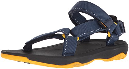 (Teva Boys' Y Hurricane XLT 2 Sport Sandal, Speck Navy, 4 M US Big Kid)