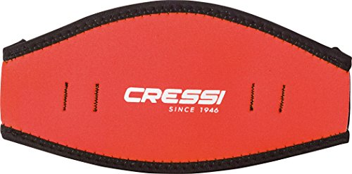 Cressi Neoprene Mask Strap Cover, red