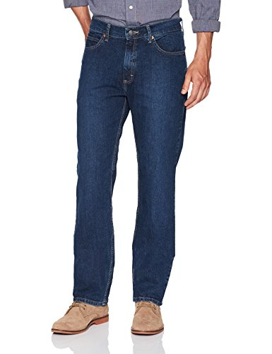 Length Stretch Jeans - LEE Men's Relaxed Fit Straight Leg Jean, Kramer, 34W x 32L