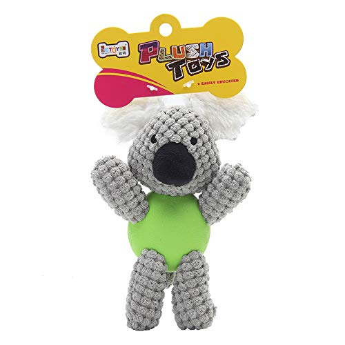 EETOYS Plush with Squeaker Low Stuffing Chew Guard Animal Series Dog Toy Koala Small