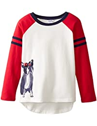 Big Girls' Raglan Sleeve French Terry Top