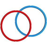 2 Pack Instant Pot 6 Quart Sealing Ring (Red/Blue)
