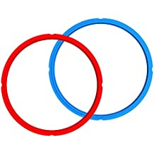 Genuine Instant Pot Sealing Ring 2-Pack - 6 Quart Red/Blue
