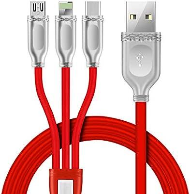 Multi Cable De Cargador USB 3 En 1 Cable De Carga Múltiple ...