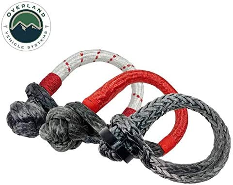 23 with Storage Bag with Loop /& Abrassive Sleeve Overland Vehicle Systems Soft Shackle 7//16 41,000 lb