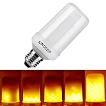 KINDEEP LED Flame Bulb, 3W, 3 Modes Decative Lighting Lamp. E26/E27 Medium Base, Flickering Effect Flame Bulb, Decorative Lamp for Hotel Party, Pack of 1