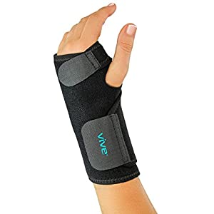 Wrist Brace by Vive - Universal Support for Carpal Tunnel, Tendonitis, Wrist Pain & Sports Injuries - Removable Splint - One Size Fits Most (Left Wrist)