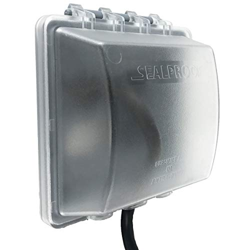Sealproof 2-Gang Weatherproof In Use Outlet Cover | Two Gang Outdoor Plug and Receptacle Protector, Lockable, UL Extra Duty Compliant, 45 Configurations ()