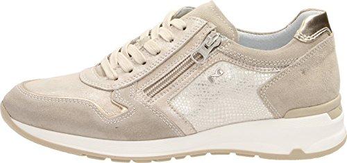 Giardini 2018 o Estate Donna Pelle Ivory Grigio Sneakers in Ivory Beige Nero Scarpe Metal Primavera fAOd4wqf
