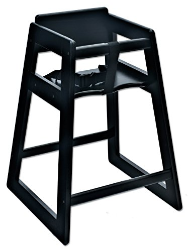 (Koala Kare KB800-22 Deluxe Wood High Chair, Black, 21
