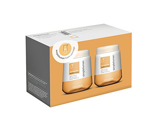 Foam Mandarin (simplehuman Mandarin Orange Foam Hand Soap, 10 Fl. Oz. Foam Cartridges (2 pack))