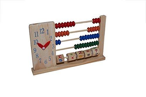 mit einer wunderbaren Uhr verziert Abacus juguetutto