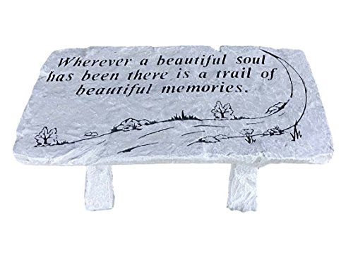 Trail of Memories Memorial Bench 26x12x12 (Plaques Memorial For Benches Outdoor)