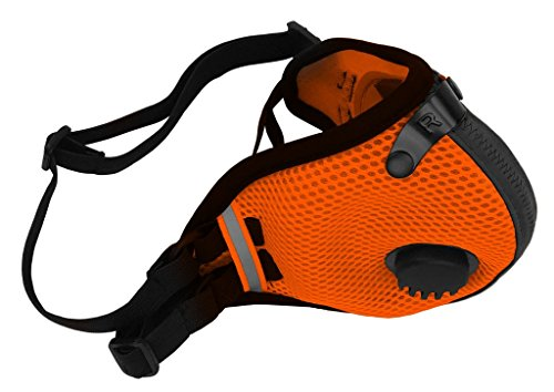 RZ Dust/Pollution Mask Bonus Pack w/5 Laboratory Tested Filters, Model M2.5, Mesh, Safety Orange, Size Large by RZ Mask (Image #2)