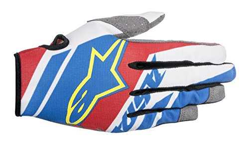 Price comparison product image Alpinestars 3541516732M Racer Supermatic Youth Gloves (Blue / Red / White,  Medium)