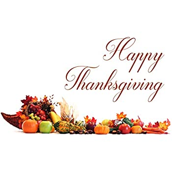 Amazon thanksgiving greeting cards th1510 greeting cards thanksgiving greeting cards a thankful display atd100 greeting cards with a cornucopia and happy thanksgiving box set has 25 greeting cards and 26 m4hsunfo