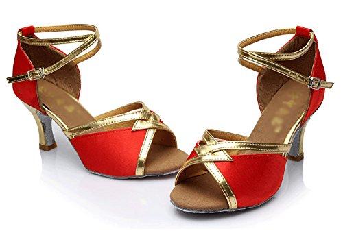 Salon Sandale Latine De Danse L'usure Mou résistant Womens Wymname Fond Chaussures À Rouge WpqgqvP
