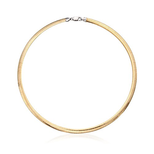 Ross-Simons Italian 5.5mm Two-Tone Sterling Silver Reversible Omega Necklace ()