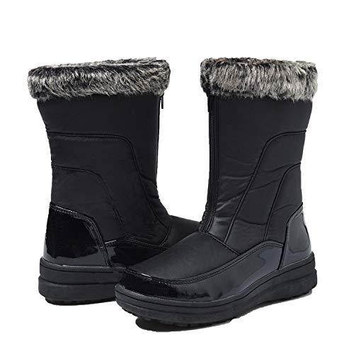 Après Chauds Noir H7628 Fourrées Boots Shenji Femme Bottes Hiver Ski Doublure qtUHUw