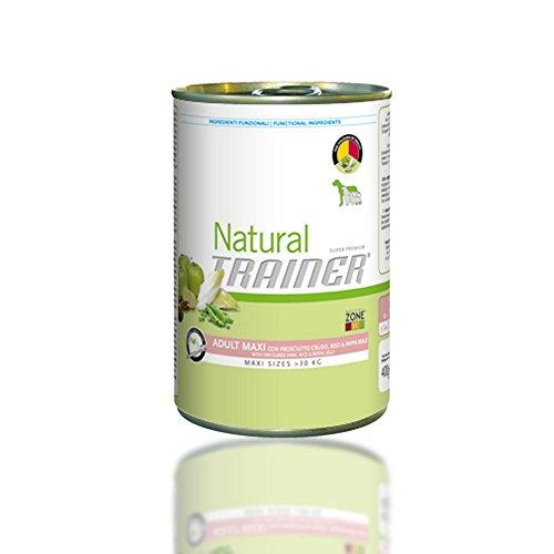 TRAINER Natural perro grande húmeda 400 gr de jamón - Comida mojado de perros