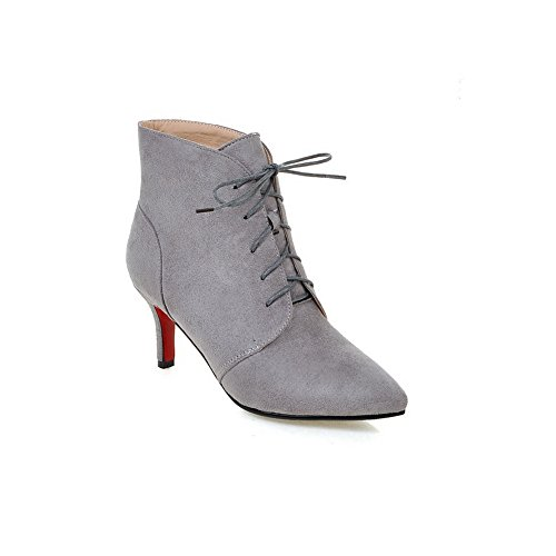 AdeeSu Womens Dress Pointed-Toe Slip-Resistant Suede Boots SXC02159 Gray
