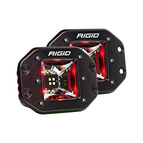 (RIGID 68212 RADIANCE SCENE RED BACKLIGHT FLUSH MOUNT LED Lights (set of 2 LED Lights), 68212)